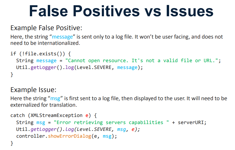 False Positives vs Issues