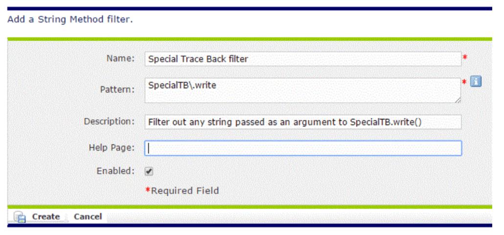String Method Filter