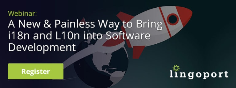 lingoport webinar A New & Painless Way to Bring i18n and L10n into Software Development Image
