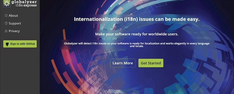 globalyzer i18n express screenshot