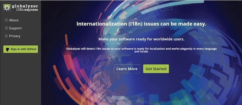 globalyzer i18n express screenshot