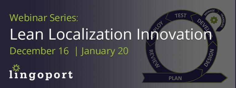 Localization Innovation Webinar Series