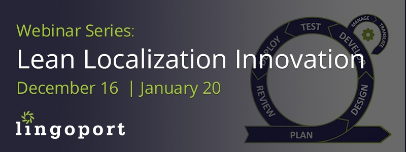 Localization Innovation Webinar Series